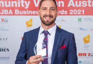 Calvin at the Joondalup Business Awards